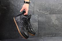 Кроссовки мужские кожаные Nike Lunar Force 1,черные(Индонезия), фото 2