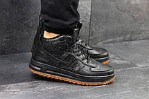 Кроссовки мужские кожаные Nike Lunar Force 1,черные(Индонезия), фото 3