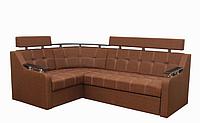 Угловой диван Garnitur.plus Элегант 3 светло-коричневый 165 см