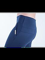 Классические женские лосины темно-синего цвета, фото 1