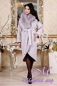 Женское красивое зимнее пальто сиреневого цвета (р. 44-54) арт. 1089 Тон 17