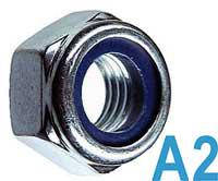 Гайка самоконтрящаяся с нейлоновым кольцом М6 DIN 985 нержавеющая сталь А2