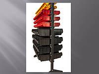 Стелаж для метизних ящиків двосторонній 1500мм 138 ящиків,Стеллаж для метизных ящиков двусторонний 1500мм