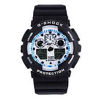 Спортивные часы Casio G-Shock ga-100 Black-White реплика