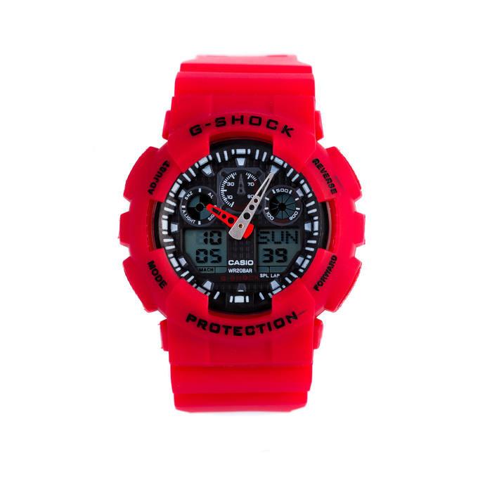 Спортивные наручные часы Casio G-Shock ga-100 Red Касио реплика