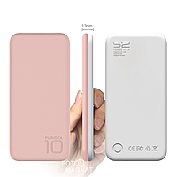 Power Bank Puridea S2 10000 mAh Pink White — Повербанк, Портативная зарядка, УМБ