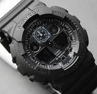 Спортивные часы Casio G-Shock ga-100 Black - Касио джи шок га 100