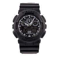 Спортивные наручные часы Casio G-Shock ga-100 Black Касио реплика, фото 1