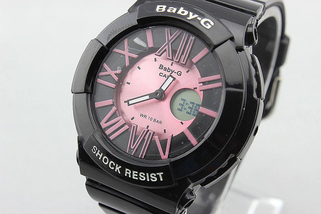 Детские спортивные часы Casio Baby-G BGA-160 Black - Rose реплика