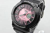 Детские спортивные часы Casio Baby-G BGA-160 Black - Rose реплика, фото 1