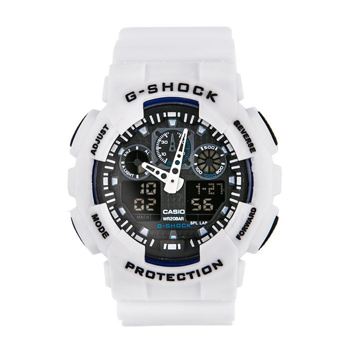 Спортивные наручные часы Casio G-Shock ga-100 White Black Касио реплика