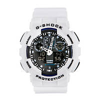 Спортивные наручные часы Casio G-Shock ga-100 White Black Касио реплика, фото 1