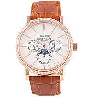 Мужские классические часы Patek Philippe Grand Complications Perpetual Calendar White Brown реплика