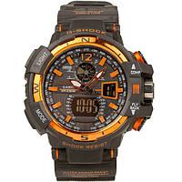 Спортивные наручные часы Casio G-Shock GWA-1100 Black-Orange Касио реплика, фото 1
