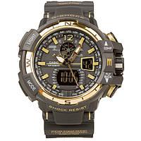 Спортивные наручные часы Casio G-Shock GWA-1100 Black-Gold Касио реплика, фото 1