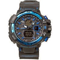 Спортивные наручные часы Casio G-Shock GWA-1100 Black-Blue Касио реплика