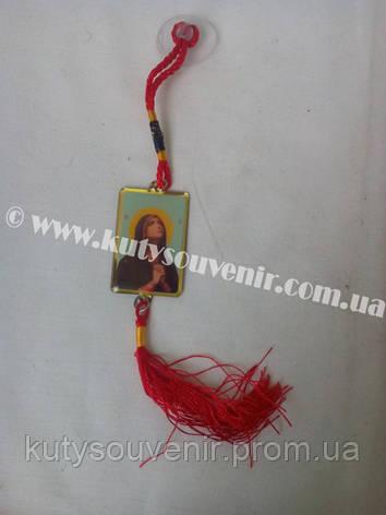 Автомобильная иконка на шнурке Девы Марии, фото 2