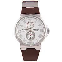 Стильные наручные часы Ulysse Nardin Marine Chronometer Brown White Копия