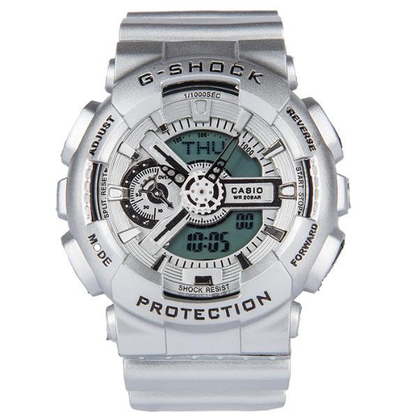 Спортивные наручные часы Casio G-shock GA-110 Silver Касио реплика