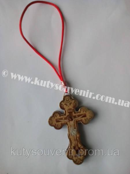 Крест деревянный с веревкой
