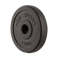 Блин диск для штанги или гантель 1.25 кг (30мм, в пластике)