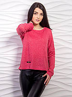 Тонкий малиновый свитер молодежного пошива