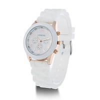 Женские наручные силиконовые часы Geneva копия, кварцевые наручные часы