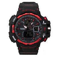 Спортивные часы Casio G-Shock GWA-1100 Black-Red реплика
