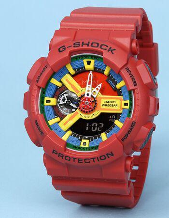 Водонепроницаемые спортивные часы Casio g-shock Ga-110 All Red AAA Копия