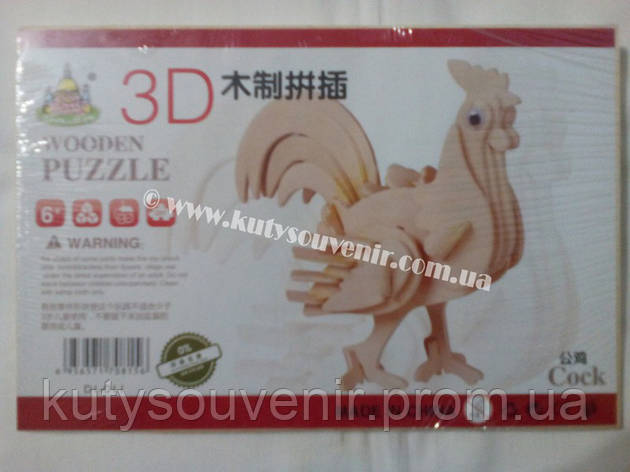 3D пазл петух, фото 2