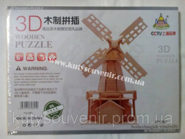 3D пазл ветряк, фото 2