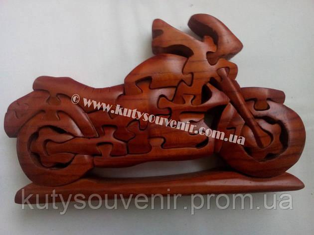 Деревянный пазл мотоцикл, фото 2