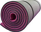 Коврик Polifoam (Полифом) туристический двуслойный 10мм розово-серый, фото 2