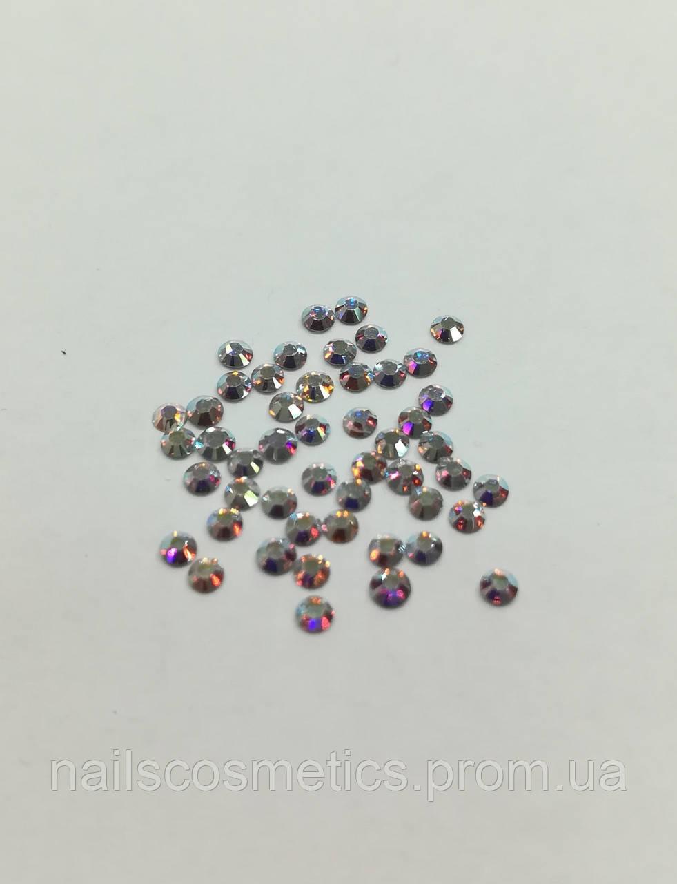 Камни Сваровски голограмма маленькие, 100 шт