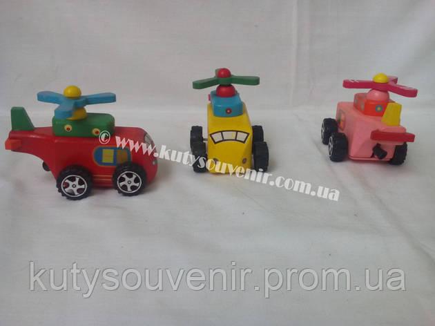 Деревянная игрушка с инерционным механизмом., фото 2
