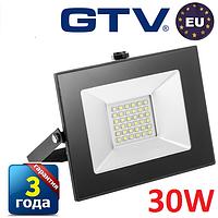 Светодиодный прожектор LED, GTV, 30W, IP65 (для улицы). Гарантия - 3 года!!!