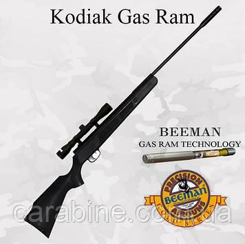 Пневматическая винтовка Beeman KodiakGas Ram с газовой пружиной и ОП 4х32  (Биман Кодьяк)