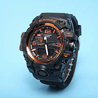 Спортивные наручные часы Casio G-Shock GWG-1000 Black Orange Касио реплика