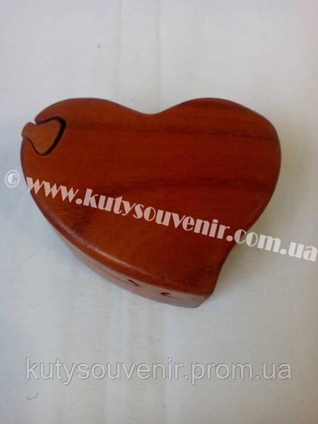 Шкатулка-головоломка сердце