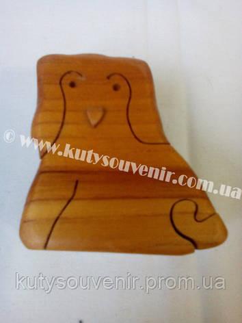 Шкатулка-головоломка сова, фото 2