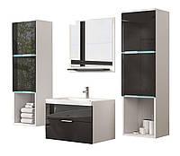 Меблі у ванну кімнату ALASKA 4 ел./ глянець / блиск