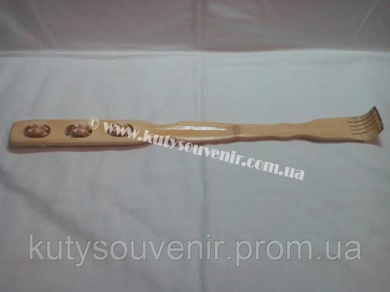 Чесалка для спины деревянная на три ролика