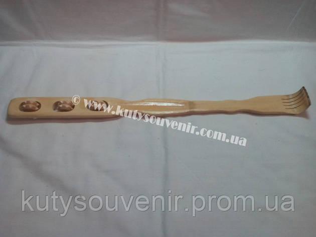 Чесалка для спины деревянная на три ролика, фото 2