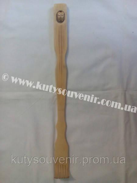 Чесалка для спины деревянная на два ролика