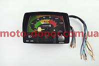 Панель приборов (в сборе)   для мопеда Delta   (120км/ч, черная, индикатор передач)   MANLE