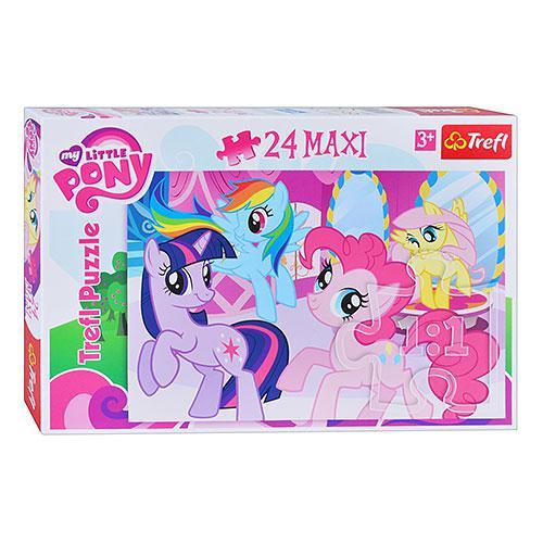 Пазлы 14182  Trefl, макси, Дружба это Магия (Liile Pony), 24 дет, в ко