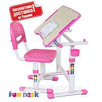 Растущий комплект парта+ стул для девочки ТМ FunDesk Piccolino II Pink
