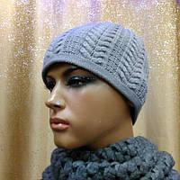 Стильная женская шапка Bona TM Loman, двойная и шерстяная, цвет серый