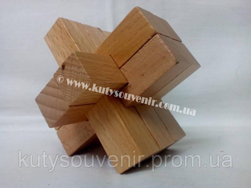 Головоломка Узел 234 деревянная