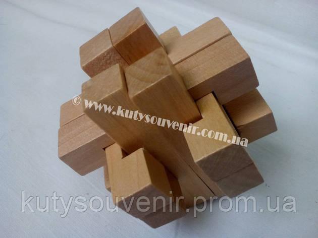 Шар в крепости деревянная головоломка, фото 2